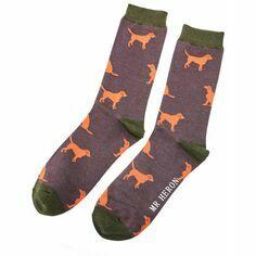 Men\'s Grey Labrador Socks
