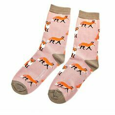 Ladies Dusky Pink Foxes Socks