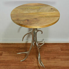 Antler Aluminium Mango Wood Table
