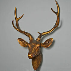 Gold Effect Stags Head Ornament