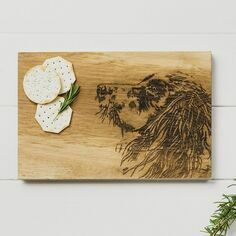 Scottish Oak Spaniel Serving Board