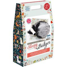 Sleepy Badger Needle Felting Kit