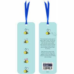 Bee Bookmark Blue