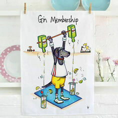 Gin Membership Tea Towel