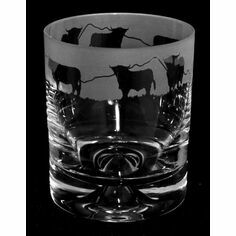 Animo Glass Highland Cow Whisky Tumbler