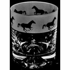 Animo Glass Galloping Horse Whisky Tumbler