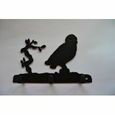 3 Hook Key Rack - Owl