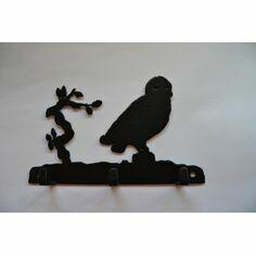 3 Hook Key Rack - Owl