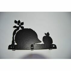 3 Hook Key Rack - Hedgehog