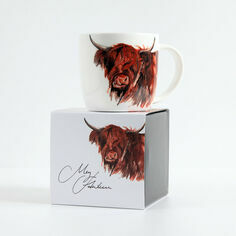 Meg Hawkins Bone China Highland Cow Mug