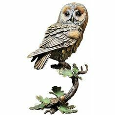 Limited Edition - Tawny Owl with Acorns Bronze Sculpture