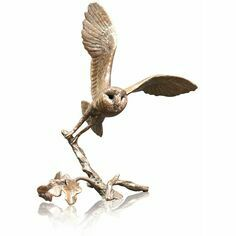 Limited Edition - Small Barn Owl Bronze Sculpture