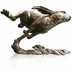 Limited Edition - Medium Hare Running Bronze Sculpture