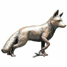 Limited Edition - Fox Standing Bronze Sculpture