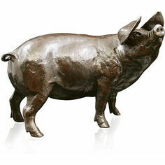 Limited Edition - Medium Gloucester Old Spot Pig Bronze Sculpture