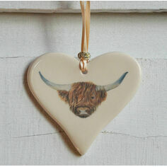 Highland Cow Hanging Heart