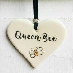 Queen Bee Hanging Heart