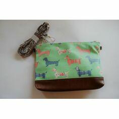 Dachshund Mini Crossbody Bag - Green