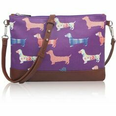 Dachshund Mini Crossbody Bag - Purple