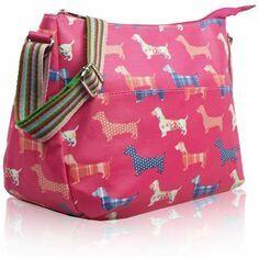 Dachshund Crossbody Bag - Fuchsia