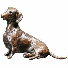 Limited Edition - Dachshund Sitting Bronze Sculpture