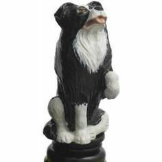 Collie Dog Bottle Stopper/Wine Saver