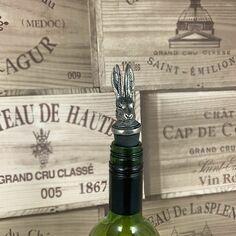 English Pewter Hare Bottle Stopper