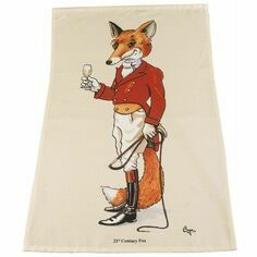 21st Century Fox Tea Towel by Bryn Parry