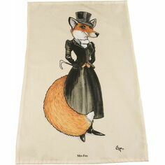 Mrs Fox Tea Towel by Bryn Parry