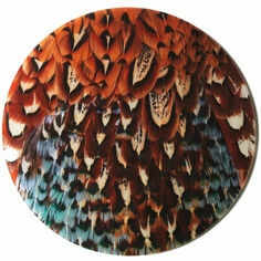 Pheasant Plumage Glass Platter