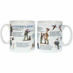 Father's Advice Mug by Bryn Parry