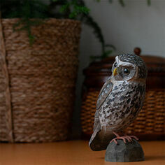 Hand Carved Little Owl Decobird