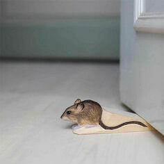 Hand Carved Door Mouse Doorstop