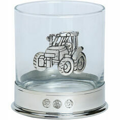 Single Tractor Pewter Whisky Glass