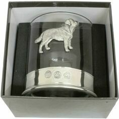 Single Labrador Pewter Whisky Glass Tumbler