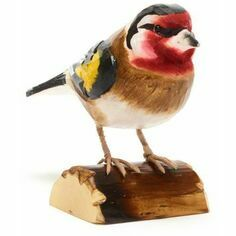 RSPB Hand Carved Wooden Gold Finch