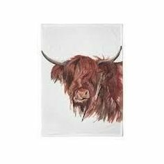 Meg Hawkins Highland Cow Tea Towel