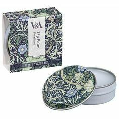 V&A Floral Mint Lip Balm Tin