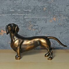 Bronze Effect Dachshund Sculpture