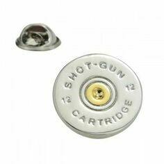 Shotgun Cartridge Lapel Pin