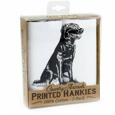 Pack of 2 Labrador Handkerchiefs