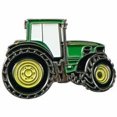 Green Tractor Lapel Pin