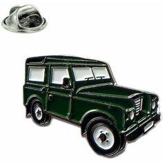 Green Land Rover Lapel Pin