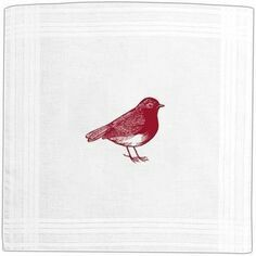 Thornback & Peel Set of 3 Red Robin Handkerchiefs