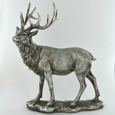 Silver Stag Sculpture Ornament