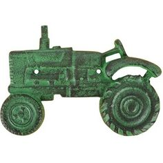 Cast Iron Green Tractor Wall Mounted Bottle Opener