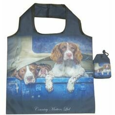 Country Matters Spaniels in Landy Fold Away Bag