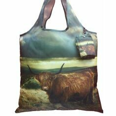 Country Matters Highland Cow Fold Away Bag