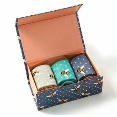 Ladies Bumble Bee Socks Box