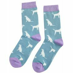 Ladies Labradors Socks in Blue
